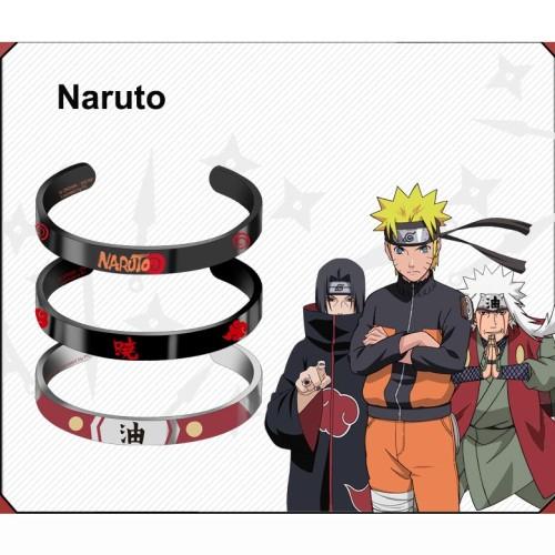 Anime Naruto Uzumaki Naruto Akatsuki Jiraiya Metal Bracelet