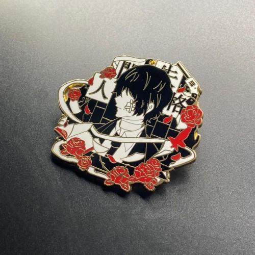 Anime Bungo Stray Dogs Dazai Osamu Nakahara Chuuya Metal Pin Badges Suit Ver.