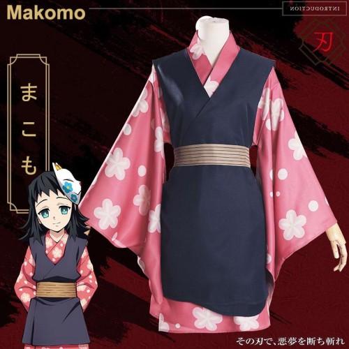 Anime Demon Slayer: Kimetsu No Yaiba Makomo Kisatsutai Cosplay Costume