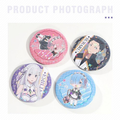 Anime Re: Zero - Starting Life in Another World Rem Ram Emilia Cute Badge Pins