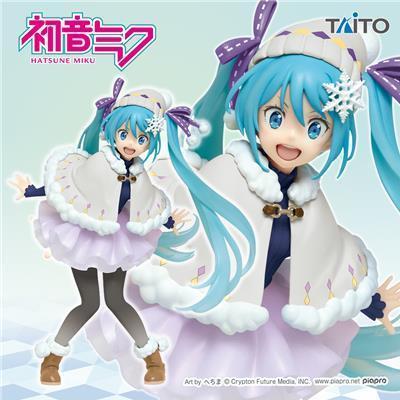 Taito Vocaloid Hatsune Miku Action Figure Original Winter Clothes Renewal Ver.