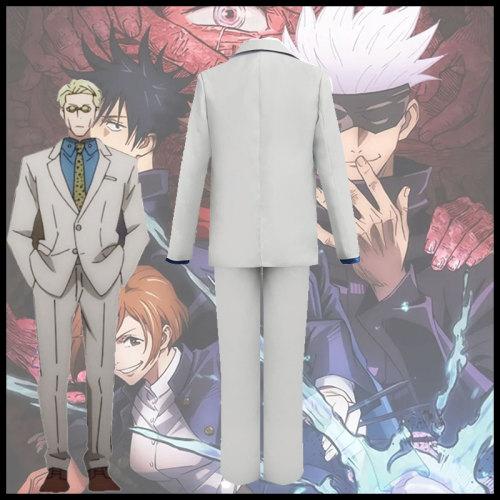 Anime Jujutsu Kaisen Nanami Kento Cosplay Costume Suit Set