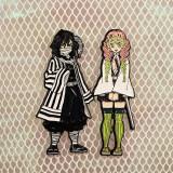 Anime Demon Slayer: Kimetsu No Yaiba Tomioka Giyuu Shinobu Kochou Rengoku Kyoujurou Tokitou Muichirou Metal Pins Cute Badge