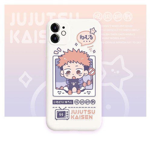Anime Jujutsu Kaisen Yuji Itadori Super Cute Phone Cases for iPhone Protective Cover