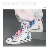 Anime Re: Zero - Starting Life in Another World Cute Rem and Ram Print Canvas Shoes
