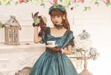 Rose Dance Lace Bows Fairy Summer Lolita Dress Short Sleeve Beautiful Dress