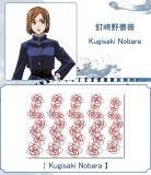 Anime Jujutsu Kaisen Yuji Itadori Ryomen Sukuna Inumaki Toge Geto Suguru Kugisaki Nobara Cosplay Temporary Tattoos Stickers