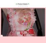 Cute Cat and Strawberry Sweet Summer Short Sleeve Lolita Dress JSK