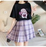 Harajuku Fashion Miss Devil Anime Girl Print Summer T-shirt