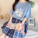Baby Bunny Cotton Soft Girl Sweet Short-sleeve Summer Loose T-shirt