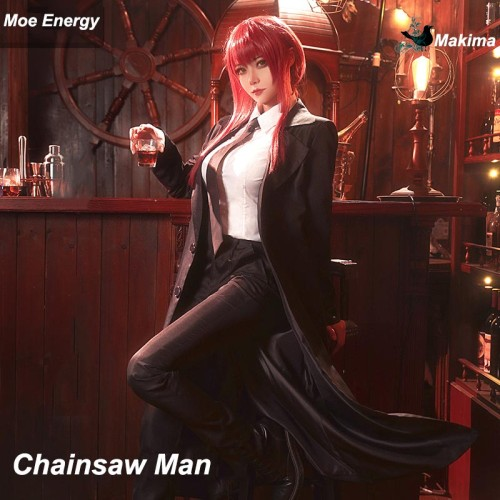 Anime Chainsaw Man Makima Cosplay Costume Suit Ver.