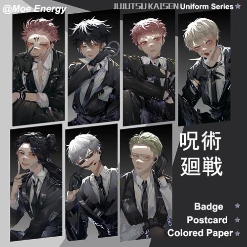 Anime Jujutsu Kaisen Inumaki Toge Nanami Kento Geto Suguru Ryomen Sukuna Gojo Satoru Badges Colored Paper and Postcards Uniform Series
