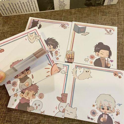Anime Jujutsu Kaisen Gojo Satoru Yuji Itadori Fushiguro Megumi Geto Suguru Ryomen Sukuna Cute Fanart Sticky Notes