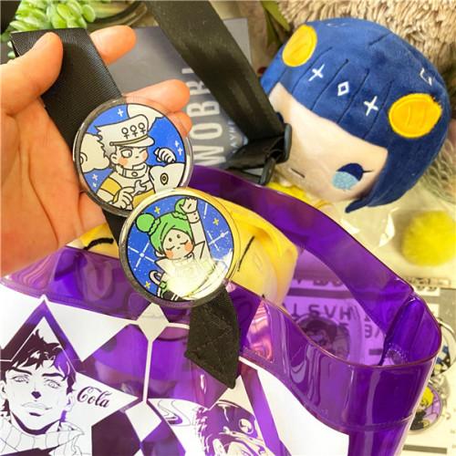 Anime JoJo's Bizarre Adventure Higashikata Josuke Rohan Kishibe Kujo Jotaro Kakyoin Noriaki Jolyne Cujoh Fanart Badges