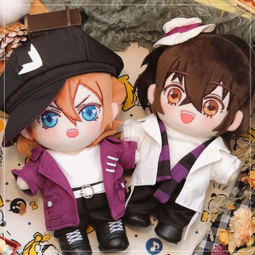 Anime Bungo Stray Dogs Dazai Osamu Nakahara Chuuya 20 CM Cute Plush Cotton Doll