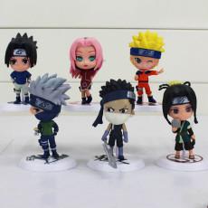 Naruto figure models A set of six Naruto figure models