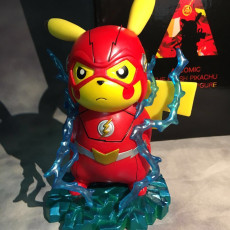 Pocket Monster Pikachu cos The Flash Figure