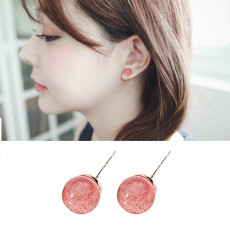 Natural Strawberry Crystal S925 Silver Earrings