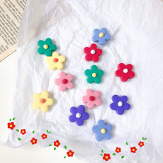 Pottery clay Pretty Flower Shape Earrings Cute Earrings