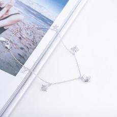 Moon star shape pendant bracelet S925 sterling silver bracelet