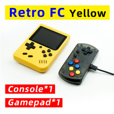 Vintage mini handheld game console with game pad