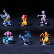 Pocket Monsters Pikachu figure Set of six car decoration
