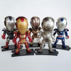 Marvel Avengers Iron Man Figures Set of five Figures