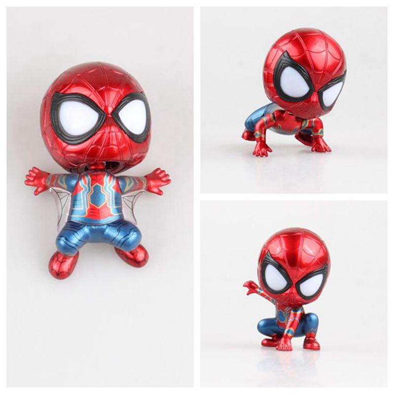 Marvel Avengers Spider-man Q Version Figure Car Decorations