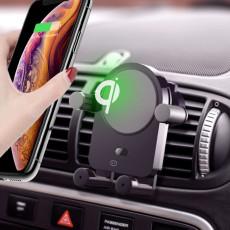 Smart voice car phone holder wireless charging Bluetooth navigation bracket