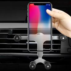 Snap-type car phone holder air outlet new create gravity navigation car bracket