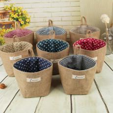 New zakka small sack Hanging stripe Storage basket - As Seen On TV