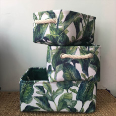 Tropical style storage set box foldable with handle fabric storage box- As Seen On TV