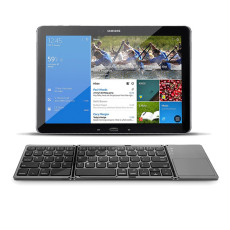 Portable Folding Wireless keyboard bluetooth Rechargeable BT Touchpad Keypad for IOS/Android/Windows ipad Tablet