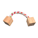 Wooden chew toy for hamster parrot cat dog pet supplies