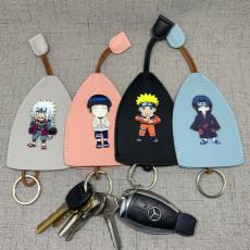 Naruto anime car key case pull type large capacity key set