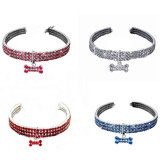 Rhinestone pet collar cat and dog stretch jewelry