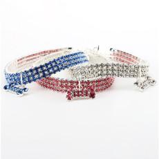 Rhinestone pet collar cat and dog stretch jewelry