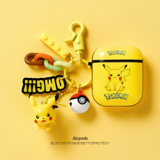 Pikachu Apple Airpods 1 2 case Bluetooth wireless silicone headset protective cover