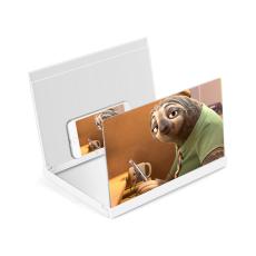10/12/14 inch Mobile Phone 3D Screen Video Magnifier Folding Enlarged Bracket