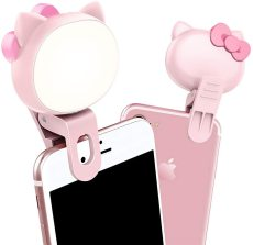 3-Level Adjustable Brightness Selfie Light Rotatable Rechargeable Clip-on Mini Phone Lights