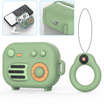 Cartoon Radio AirPods Pro Case Cute Fashion Shockproof Cool Design Skin with Ring Carabiner