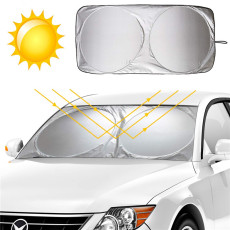 Foldable Car Front Window Sunshade Blocks Max UV Rays Sun Visor Protector