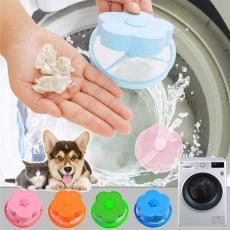 5 Pieces Reusable Washing Machine Lint Catcher Household Mesh Bag Hair Filter Net Pouch
