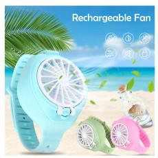 Mini Watch Fan USB Charging Three-gear Adjustment Sports Fan