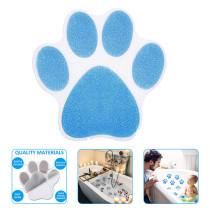 10 PCS Non-Slip Bathroom Stickers Adhesive Paw Print Bath Treads Non Slip Sticker