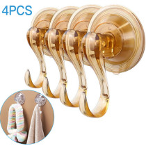 4 PCS Clear Suction Cup Hooks Removable Duty Vacuum Suction Cup Hook