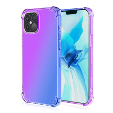 Rainbow Gradient iPhone 12 Pro Max Case Silicone Shockproof Phone Cover