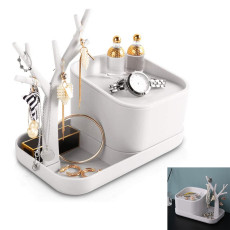Jewelry Holder With Organizer Storage Box Necklace Earring Display Stand Tree
