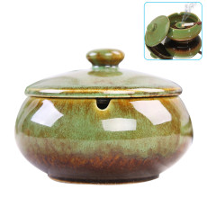 Ceramic Ashtray with Lid Windproof Portable Ashtrays for Home Office Outdoor