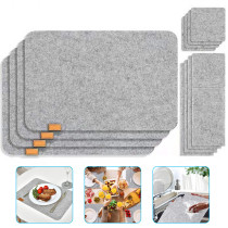 Felt Placemats Set with Coasters For Dinning Table Tableware Pad Non-Slip Table Mat